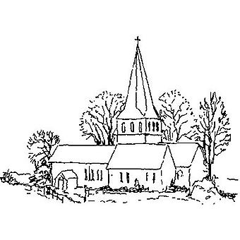 Church Wood Mounted Stamp