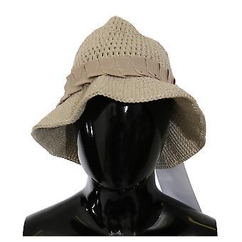 Traje Nacional Bege Clássico Fedora Panamá Beach Brim Cap Hat