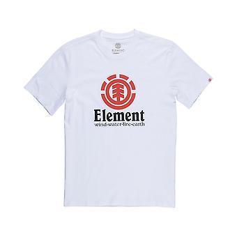 Elements Herren T-Shirt ~ vertikale optische weiß