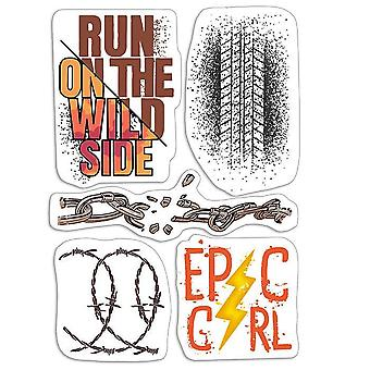 """Ciao Bella 4""""x6"""" Stamps - Epic Girl"""