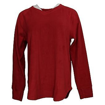 احتضان دودز المرأة & ق الأعلى تمتد طويل الأكمام الخامس الرقبة الأحمر A369300