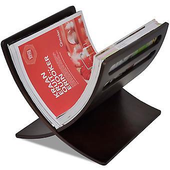 vidaXL Magazine holder wood brown