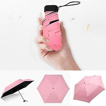 1 Mini Pocket Sol regn paraply (rosa)