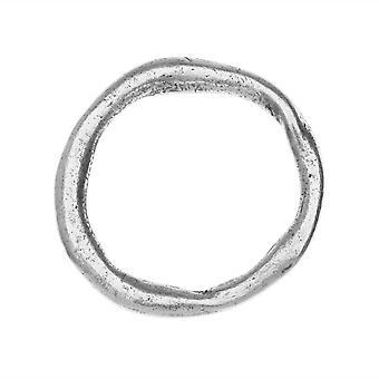 Nunn Design Open Frame, Grande Organic Hoop, 28.5mm, 1 Piece, Antiqued Silver