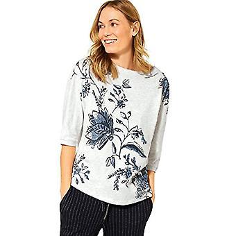 Cecil 315802 T-Shirt, off White Melange, X-Large Woman