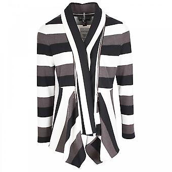 Frank Lyman borde a borde gris de manga larga chaqueta