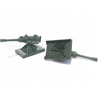 New 2pcs Army Weapon Model Simulation Anti Aircraft Gun Toys 16cm ES12829