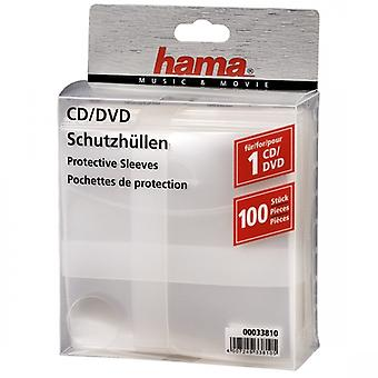 Hama CD DVD Protective Sleeves Transparent 00033810