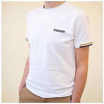 Lambretta Tipped Piqué Camiseta - Blanco