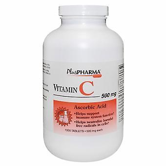 Plus Pharma Vitamin C, 500mg, 1000 Tabs