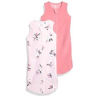 Essentials Girls' Infant 2-Pack Microfleece Baby Sleep Sack