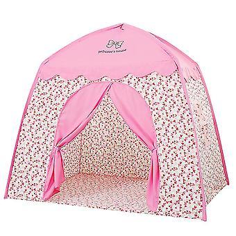 Flickor spela tält inomhus barn tälthus liten prinsessa slott flickor tält barn tälthus rosa