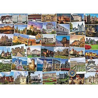 Eurographics Globetrotter Châteaux &Palaces Puzzle (1000 Pièces)