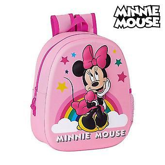 3D Lapsi laukku Minni Hiiri Vaaleanpunainen