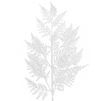 65cm Biała błyszcząca skórzana łodyga paproci na boże Narodzenie Kwiaciarnia Rękodzieła
