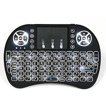 I8 wit backlit 2.4 GHz draadloze Mini Keyboard Air Mouse touchpad