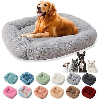 Lemmikkikissa koira lämmin sänky fleece pyöreä kissa Kennel talo pitkä muhkea talvi lemmikit kissansängyt keskikokoiset suuret koirat kissat pehmeä sohva tyyny matot