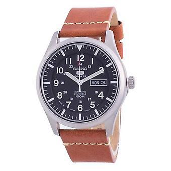 Seiko 5 Спортивный черный циферблат Автоматический Snzg15j1-var-ls21 100m Мужские часы