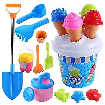 Set da spiaggia Set di gelati e torte Set di stampi per sabbia Set da 13 pezzi