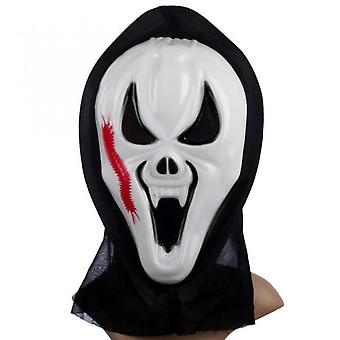 Halloween Ghost Face Mask For Party Decoration Horror Screaming Grimace Mask Novelty Scary Cosplay Prop Halloween Mask