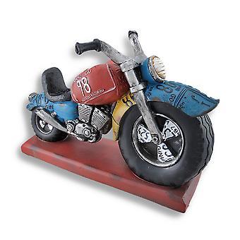 大轮摩托车雕塑瓶架显示