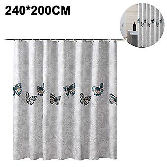 Shower Curtain, Fabric Shower Curtains, With 12 Hooks, 180 * 200cm
