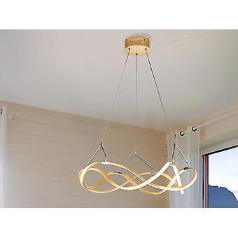 Schuller Molly Modern Dimbare LED Infinity Swirl Ring Designer Hanglamp Rose Gold met afstandsbediening