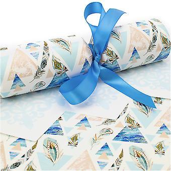 10 große blaue aztekische Cracker - Machen und füllen Sie Ihr eigenes Kit ohne Bänder