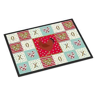 Door mats carolines treasures ck5270mat hampshire red chicken love indoor or outdoor