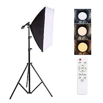 Camera accessory sets photography lighting 2m light tripod stand photo studio soft box +50w dimmable led lamp bulb for