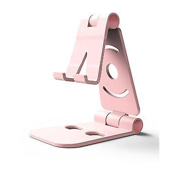 Escritorio plegable de plástico universal soporte para teléfono (rosa)