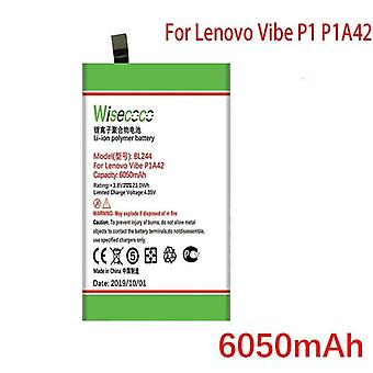 Wisecoco 6050mah Bl244 Battery For Lenovo Vibe P1 P1a42 P1c58 P1c72 Mobile