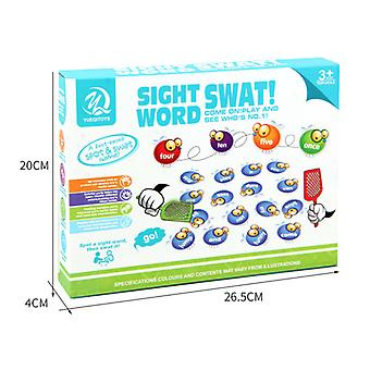 Mimigo Sight Word Swat A Sight Word Game, Home School, Tactile And Auditory Learning, Phonics Games, Educational Toys For Kids, 142 Pieces, Ages 4-6