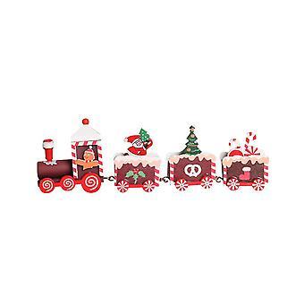 Kinderen Houten Kerst Trein Speelgoed Set Kerstversiering Geschenken