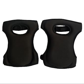 Garden Labor Protection Knee Pads, Thickened Moisture-proof Knee Pads (black)