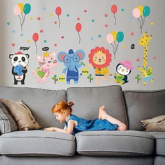 Słodkie Zwierzę Balon Naklejki ścienne Naklejki Naklejki Przedszkole Art Tapety