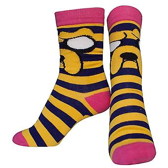 ADVENTURE TIME Jake with Striped Pattern Crew Socks - 38/41 (CR220108ADV-38)