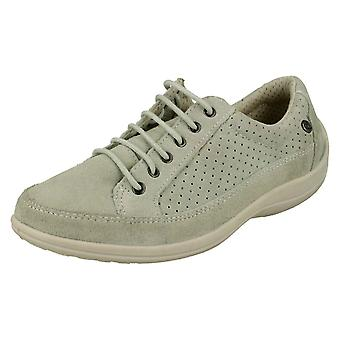 Ladies Free Step Casual Lace Up Shoes Crocus