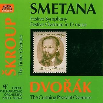 Czech Po/Sejna - Smetana: Festive Symphony; Festive Overture in D Major; Dvor K: The Cunning Peasant Overture [CD] USA import