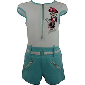 Garotas Disney Minnie Mouse manga curta Playsuit