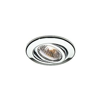 LED Robus Rida GU10 240V Adjustable Downlight, Chrome