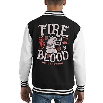 Feuer und Blut Drachenstein Targaryen Game Of Thrones Kid Varsity Jacket