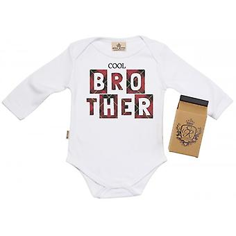 Spoilt Rotten Cool Brother Baby Grow 100% Organic In Milk Carton