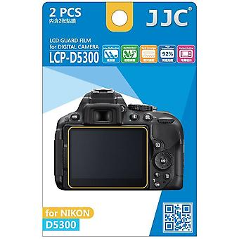 JJC Guard Film Crystal Clear Screen Protector for Nikon D5300 - no cutting (2 Film Pack)