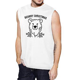 Bearry Navidad oso hombres divertido gráfico muscular superior de Navidad
