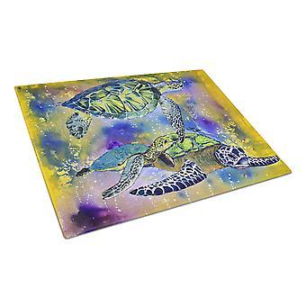 Carolines Treasures  8394LCB Turtle Glass Cutting Board Large