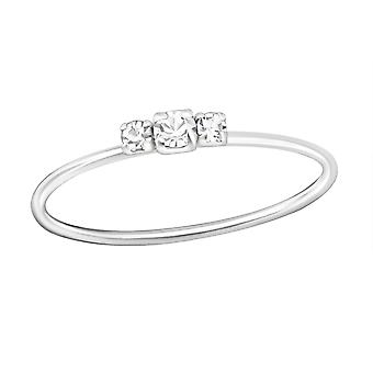 Jeweled - 925 Sterling Silver Jewelled Rings - W35599X