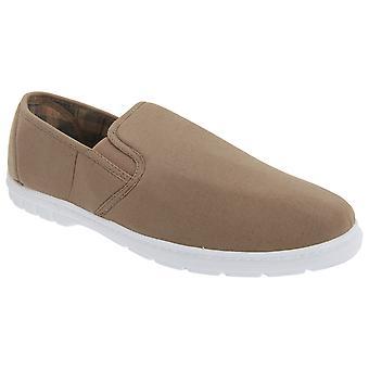 Cimitarra Mens Twin Gusset Slip em sapatos casuais têxtil