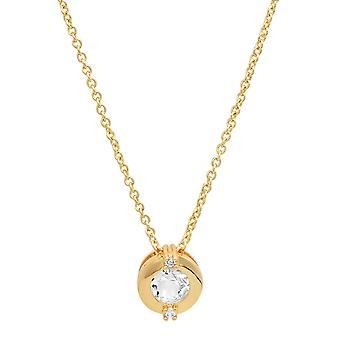 Ladies 18K Gold Plated Brass Solitaire Pendant
