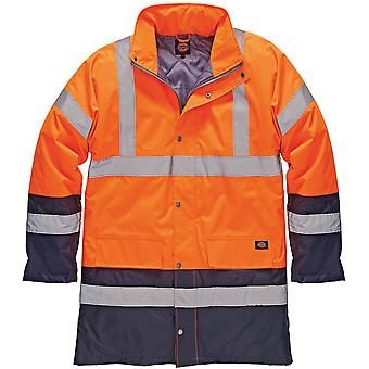 Dickies Herre høj synlighed Viz to Tone Parka jakke Orange SA7004